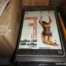 Cine: HOMICIDIO AL LIMITE DE LA LEY V2000 ORIGINAL SISTEMA VIDEO 2000. Lote 209766313