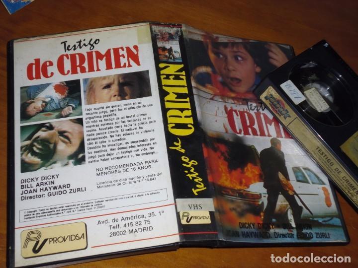 Cine: TESTIGO DE CRIMEN - DICKY DICKY, BILL ARKIN, GUIDO ZURLI - BETA - Foto 2 - 210022530