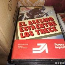 Cine: EL ASESINO ESRA ENTRE LOS TRECE 13 V2000 ORIGINAL SISTEMA VIDEO 2000 PAUL NASCHY. Lote 210451267