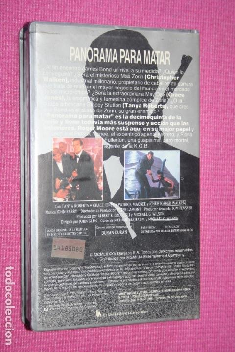 Cine: PANORAMA PARA MATAR (Roger Moore) * FILM BETA CINE ACCIÓN * JAMES BOND AGENTE OO7 * WARNER BROS * - Foto 2 - 210627928