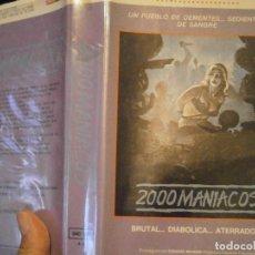 Cine: 2000 MANIACOS BETA CAJA GRANDE. Lote 211886342