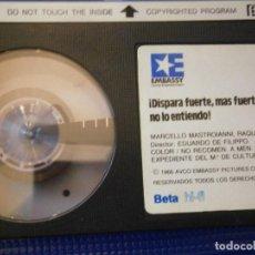 Cine: DISPARA FUERTE MAS FUERTE NO LO ENTIENDO¡BETA 1 EDICION,DISPONEMOS,MAS,DE,60.000,EN VHS BETA 2000¡. Lote 213541555