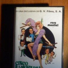 Cine: VIDEO-CASSETTE PELÍCULA BETAMAX, CINCO ALMOHADAS PARA UNA NOCHE, LICENCIA EXHIBICIÓN, GRAN VIA FILMS. Lote 213830435