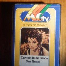 Cine: VIDEO-CASSETTE PELÍCULA V2000, 2000 - CARMEN LA DE RONDA, SARA MONTIEL - MCTV - PRECINTADA. Lote 213830487