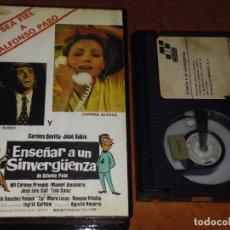 Cine: ENSEÑAR A UN SINVERGÜENZA - CARMEN SEVILLA, JOSE RUBIO, AGUSTIN NAVARRO - BETA. Lote 214004678