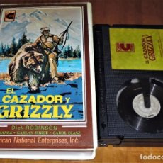 Cine: EL CAZADOR Y GRIZZLY - DICK ROBINSON, DON SHANKS, CAROL ELASZ - BETA. Lote 218784615