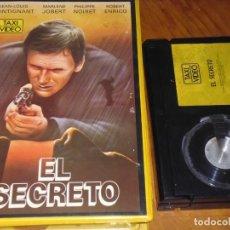 Cine: EL SECRETO - JEAN-LOUIS TRINTIGNANT, PHILIPPE NOIRET, ROBERT ENRICO - BETA. Lote 219702216