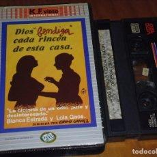 Cine: DIOS BENDIGA CADA RINCON DE ESTA CASA - BLANCA ESTRADA, LOLA GAOS, CHUMY CHUMEZ - VIDEO 2000. Lote 225462012