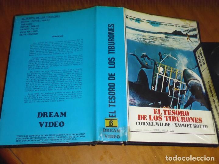 Cine: EL TESORO DE LOS TIBURONES - CORNEL WILDE, YAPHET KOTTO, CLIFF OSMOND, JOHN NEILSON - BETA - Foto 2 - 225920271