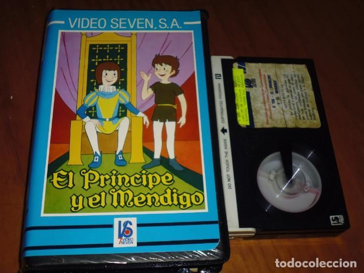 EL PRINCIPE Y EL MENDIGO - DIBUJOS - RAREZA - VIDEOSEVEN - BETA (Cine - Películas - BETA)