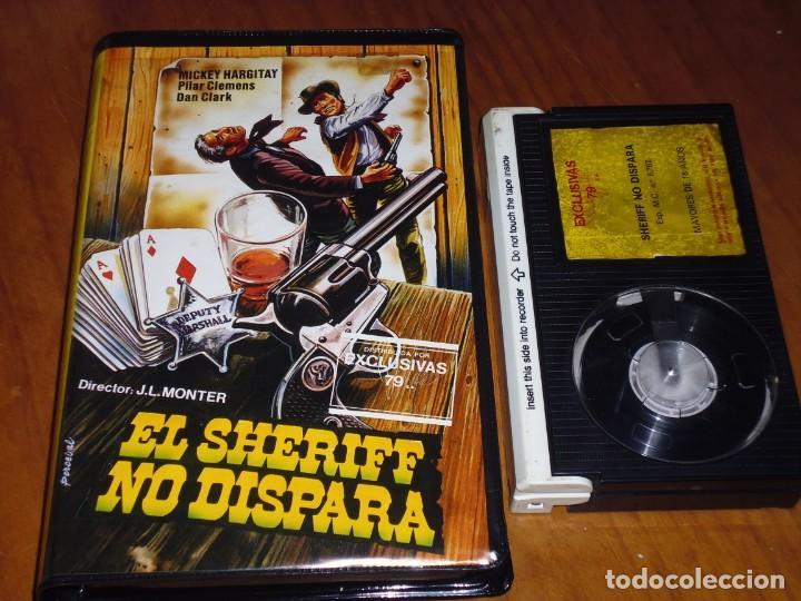 EL SHERIFF NO DISPARA - MICKEY HARGITAY, PILAR CLEMENS, DAN CLARK - EXCLUSIVAS 79 - RAREZA - BETA (Cine - Películas - BETA)