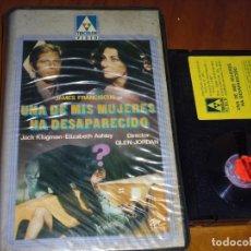Cine: UNA DE MIS MUJERES HA DESAPARECIDO - GLENN JORDAN , JACK KLUGMAN - BETA. Lote 236489760