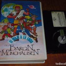 Cine: EL VIAJE A LA LUNA DEL BARON DE MÜNCHAUSEN - DIBUJOS ANIMADOS - BETA. Lote 237631650