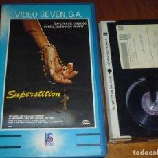 Cine: SUPERSTITION / LA CASA DE MARY - MARIO KASSAR, JAMES HOUGNTON - TERROR BRUJERIA SATANISMO - BETA. Lote 239540040