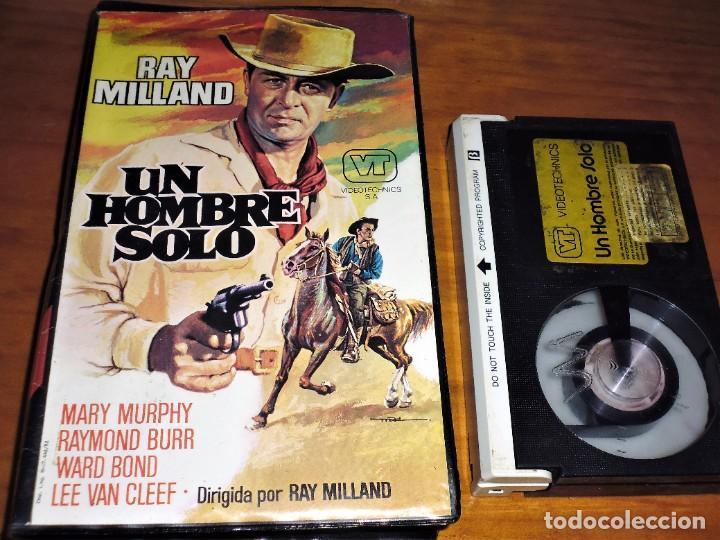 UN HOMBRE SOLO - RAY MILLAND, RAYMOND BURR, WARD BOND, LEE VAN CLEEF - BETA (Cine - Películas - BETA)
