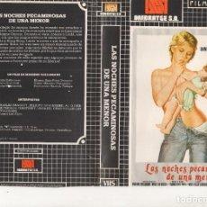 Cine: BETA - LAS NOCHES PECAMINOSAS DE UNA MENOR - ANNIE BELLE / MASSIMO DALLAMANO - CLASIFICADA S - JOYA. Lote 244808035