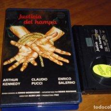 Cine: JUSTICIA DEL HAMPA / VIOLACION EN EL ULTIMO TREN DE LA NOCHE - ALDO LADO, MACHA MERIL - TERROR BETA. Lote 244814255