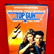 Cine: TOP GUN (ÍDOLOS DEL AIRE) (1986) - TOM CRUISE, KELLY MCGILLIS, TOM SKERRITT -1ª EDICIÓN VIDEOCLUB. Lote 254986635