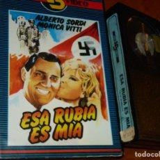 Cine: ESA RUBIA ES MIA - ALBERTO SORDI, MONICA VITTI - VIDEO BOOM - BETA. Lote 261247895