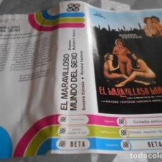 Cine: BETA - SOLO CARATULA SIN CINTA - EL MARAVILLOSO MUNDO DEL SEXO - SUSANA ESTRADA. Lote 262096205
