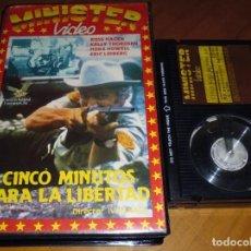 Cine: CINCO MINUTOS PARA LA LIBERTAD - ROSS HAGEN, ERIC LIDBERG, KELLY THORDSEN - BETA. Lote 264499774
