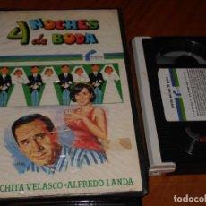Cine: 4 NOCHES DE BODA - MARIANO OZORES, ALFREDO LANDA, CONCHITA VELASCO, TOMAS ZORI - BETA. Lote 264500114