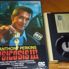 Cine: PSICOSIS 3 ( III ) - ANTHONY PERKINS - TERROR 1ª EDICION VIDEOCLUB CAJA GRANDE CIC - BETA. Lote 264823534