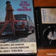 Cine: LAS NENAS DEL MINI MINI - PILAR VELAZQUEZ, JOSE SACRISTAN, GERMAN LORENTE - CB FILMS - BETA. Lote 265758069