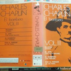 "Cine: CHARLES CHAPLIN EL BOMBERO , (""SOLO CARATULA""). Lote 266978214"