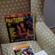 Cine: PULP FICTION LASERDISC , PELÍCULA ORIGINAL ESPAÑA CONTIENE PÓSTER Y 2 DISCOS. Lote 267871054
