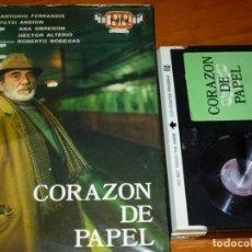 Cine: CORAZON DE PAPEL - ANA OBREGON, ANTONIO FERRANDIS, HECTOR ALTERIO, ROBERTO BODEGAS - BETA. Lote 268471584