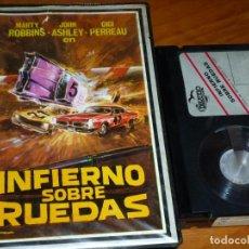 Cine: INFIERNO SOBRE RUEDAS - MARTY ROBBINS, JOHN ASHLEY, GIGI PERREAU - BETA. Lote 268471634
