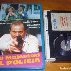 Cine: SU MAJESTAD EL POLICIA - BERNARD FRESSON, JEAN-PIERRE BECOURT - BETA. Lote 268785519
