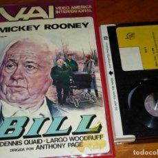 Cine: BILL - MICKEY ROONEY, DENNIS QUAID, LARGO WOODDRUFF, ANTHONY PAGE - BETA. Lote 268785539