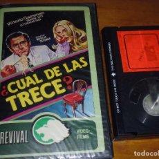 Cine: CUAL DE LAS TRECE? - VITTORIO GASSMAN, SHARON TATE, VITTORIO DE SICA - BETA. Lote 269010639