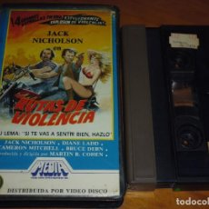 Cine: RUTAS DE VIOLENCIA - JACK NICHOLSON, DIANE LADD, CAMERON MITCHELL, BRUCE DERN - VIDEO 2000. Lote 269012484