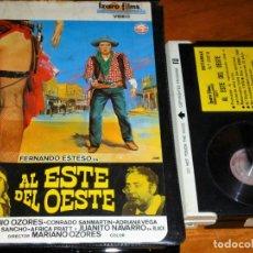 Cine: AL ESTE DEL OESTE - ANTONIO OZORES, JUANITO NAVARRO, AFRICA PRATT, ADRIANA VEGA - IZARO FILMS - BETA. Lote 269740333