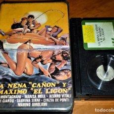 Cine: LA NENA CAÑON Y D. MAXIMO EL LIGON - RENZO MONTAGNANI, ALVARO VITALI, MARISA MELL - BETA. Lote 270905848