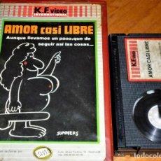 Cine: AMOR CASI LIBRE - PACO LARA POLOP, MANUEL SUMMERS - 1ªED KALENDER CAJA GRANDE CON FOTOS - BETA. Lote 270957338