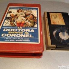 Cine: LA DOCTORA SEDUCE AL CORONEL (1980) - MICHELE MASSIMO, ALVARO VITALI - 1 EDIC JOSE FRADE BETAMAX. Lote 271449598