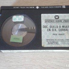 Cine: DOC. DUELO A MUERTE EN O,K, CORRAL-BETA-WARNER BROS.HOME VIDEO-AÑO 1985-SÓLO CINTA.. Lote 278507508