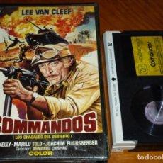 Cine: COMMANDOS . LOS CHACALES DEL DESIERTO - LEE VAN CLEEF , MARILU TOLO , ARMANDO CRISPINO - BETA. Lote 288614058