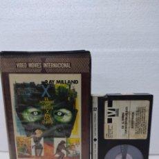 Cine: EL HOMBRE CON RAYOS X EN LOS OJOS (ROGER CORMAN, 1962) - RAY MILLAND- BETA 80´S CAJA ANCH.VIDEO CLU. Lote 289327153