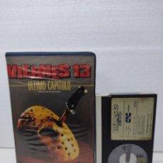 Cine: VIERNES 13 PARTE 4: ULTIMO CAPITULO 19841ª EDICIÓN DE VIDEOCLUB CARATULA GORDA. Lote 290029753
