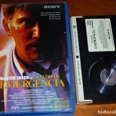 Cine: ESTADO DE EMERGENCIA - MARTIN SHEEN, PETER FIRTH, RICHARD BENNETT - BETA. Lote 295461978