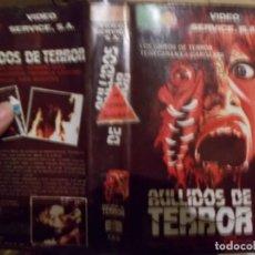 Cine: AULLIDOS DE TERROR ,BETA PELICULA GRABADA CARATULA ESCANEADA AÑOS 80. Lote 296720248