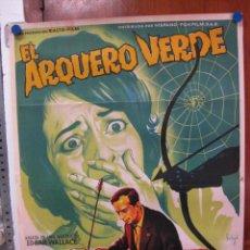 Cine: EL ARQUERO VERDE. GERT FROBE, KARIN DOR. ILUSTR.: SOLIGO . LITOGRAFIA. 1961. Lote 26811032