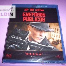Cine: ENEMIGOS PÚBLICOS JOHNNY DEPP BLU-RAY NUEVO PRECINTADO. Lote 33460983