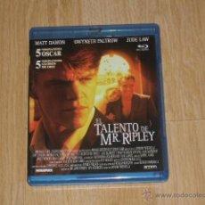 Cine: EL TALENTO DE MR. RIPLEY BLU-RAY DISC MATT DAMON JUDE LAW NUEVO PRECINTADO. Lote 162798501