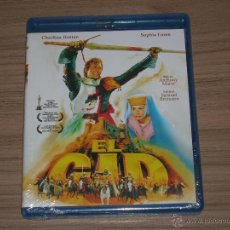 Cine: EL CID BLU-RAY DISC ANTHONY MANN CHARLTON HESTON SOFIA LOREN NUEVO PRECINTADO. Lote 100498240